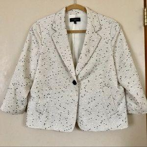 Talbots woven textured blazer. Size 16P